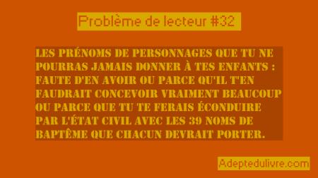 problème de lecteur #32