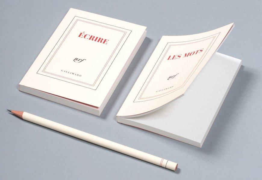Papeterie Gallimard Hommage A La Blanche Adepte Du Livre