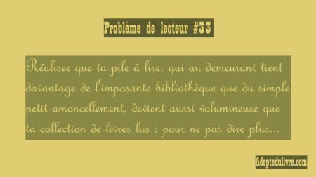 problème de lecteur #33